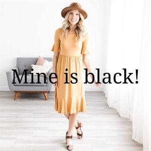 Black midi dress never worn